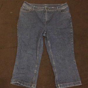 Style & Co denim capris.  Size 14
